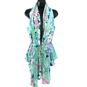 Lilly Pulitzer Hana Convertible Vest Purrfect Silk